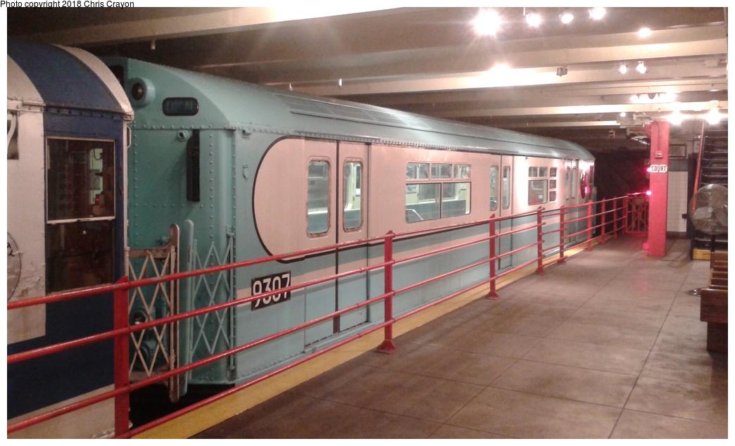 (230k, 1044x634)<br><b>Country:</b> United States<br><b>City:</b> New York<br><b>System:</b> New York City Transit<br><b>Location:</b> New York Transit Museum<br><b>Car:</b> R-33 World's Fair (St. Louis, 1963-64) 9307 <br><b>Photo by:</b> Chris Crayon<br><b>Date:</b> 6/7/2018<br><b>Viewed (this week/total):</b> 0 / 378