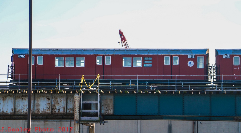 (178k, 1024x565)<br><b>Country:</b> United States<br><b>City:</b> New York<br><b>System:</b> New York City Transit<br><b>Location:</b> MTA Tiffany Iron Works/The Bronx<br><b>Car:</b> R-33 Main Line (St. Louis, 1962-63) 8912/8913 <br><b>Photo by:</b> John Dooley<br><b>Date:</b> 11/28/2017<br><b>Viewed (this week/total):</b> 1 / 978