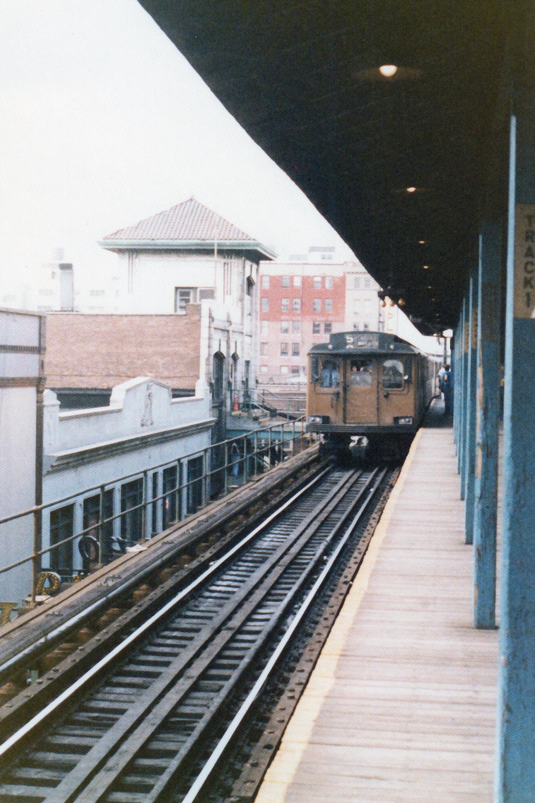 (921k, 1066x1599)<br><b>Country:</b> United States<br><b>City:</b> New York<br><b>System:</b> New York City Transit<br><b>Line:</b> BMT Nassau Street/Jamaica Line<br><b>Location:</b> 168th Street (Demolished) <br><b>Route:</b> Fan Trip<br><b>Car:</b> BMT D-Type Triplex 6019 <br><b>Collection of:</b> Nicholas Fabrizio<br><b>Date:</b> 9/1/1977<br><b>Viewed (this week/total):</b> 34 / 141