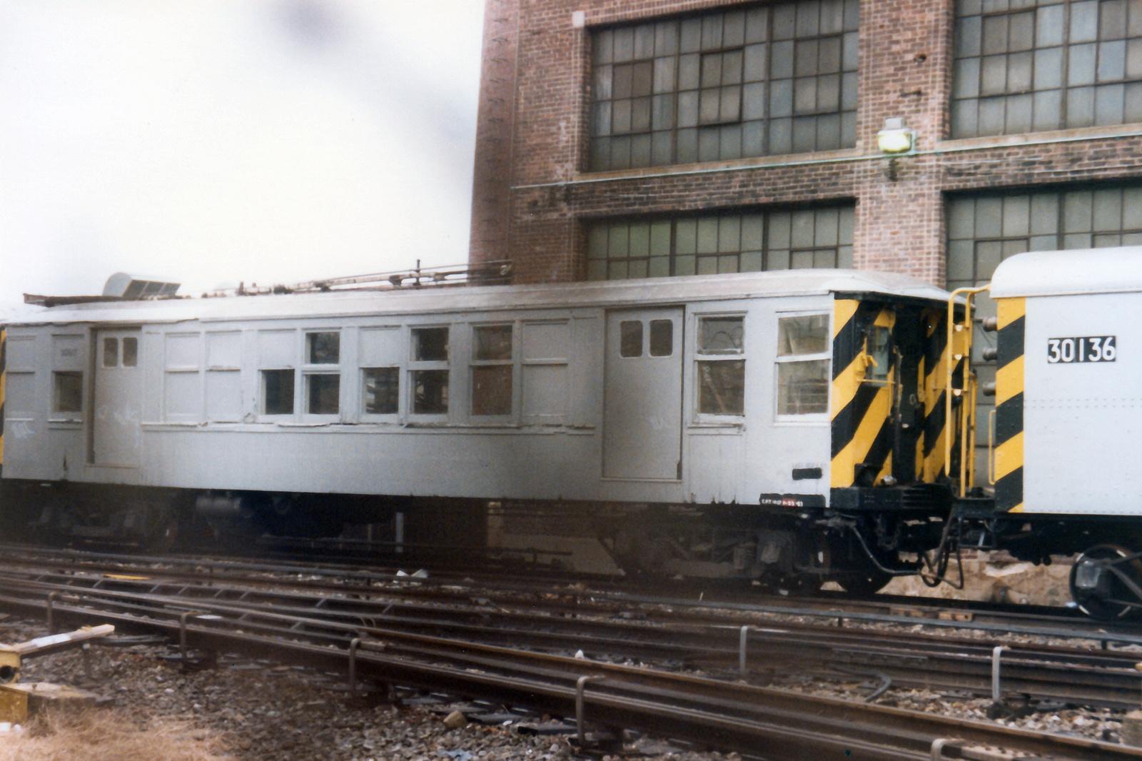 (683k, 1600x1066)<br><b>Country:</b> United States<br><b>City:</b> New York<br><b>System:</b> New York City Transit<br><b>Location:</b> Coney Island Yard<br><b>Car:</b> BMT Q 30617 (ex-1630)<br><b>Collection of:</b> Nicholas Fabrizio<br><b>Notes:</b> Pump train - hose car.<br><b>Viewed (this week/total):</b> 1 / 167