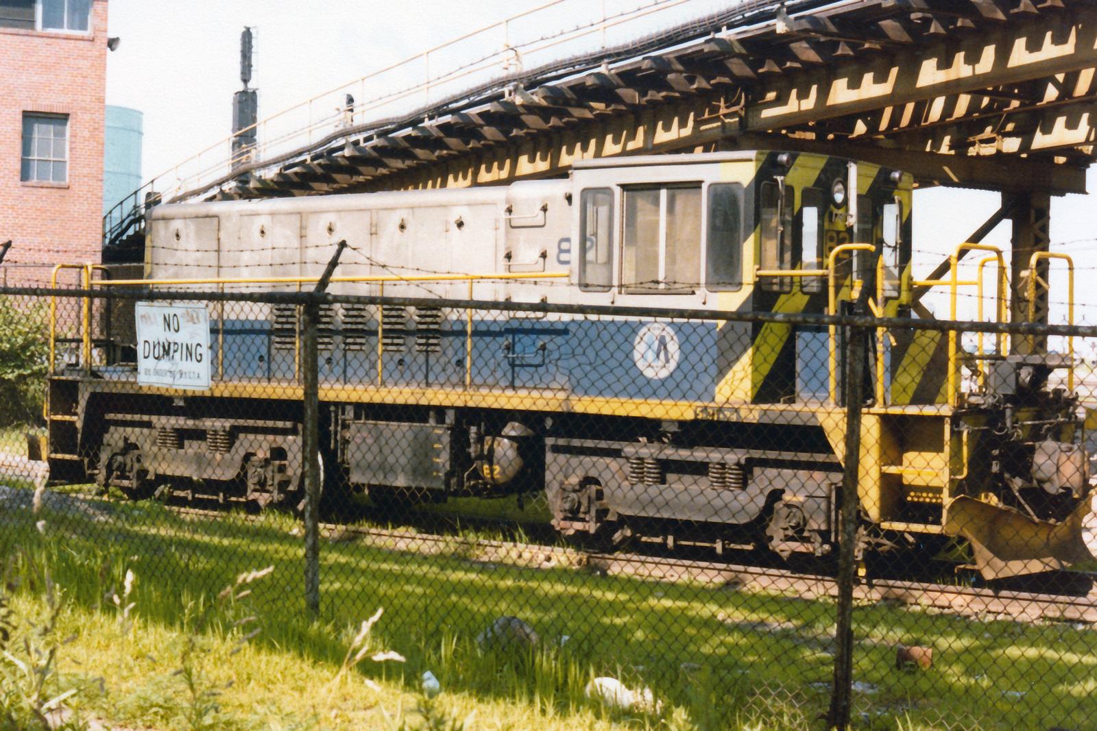 (1011k, 1600x1067)<br><b>Country:</b> United States<br><b>City:</b> New York<br><b>System:</b> New York City Transit<br><b>Location:</b> Coney Island Yard<br><b>Car:</b> R-52 Locomotive  82 <br><b>Collection of:</b> Nicholas Fabrizio<br><b>Viewed (this week/total):</b> 4 / 211