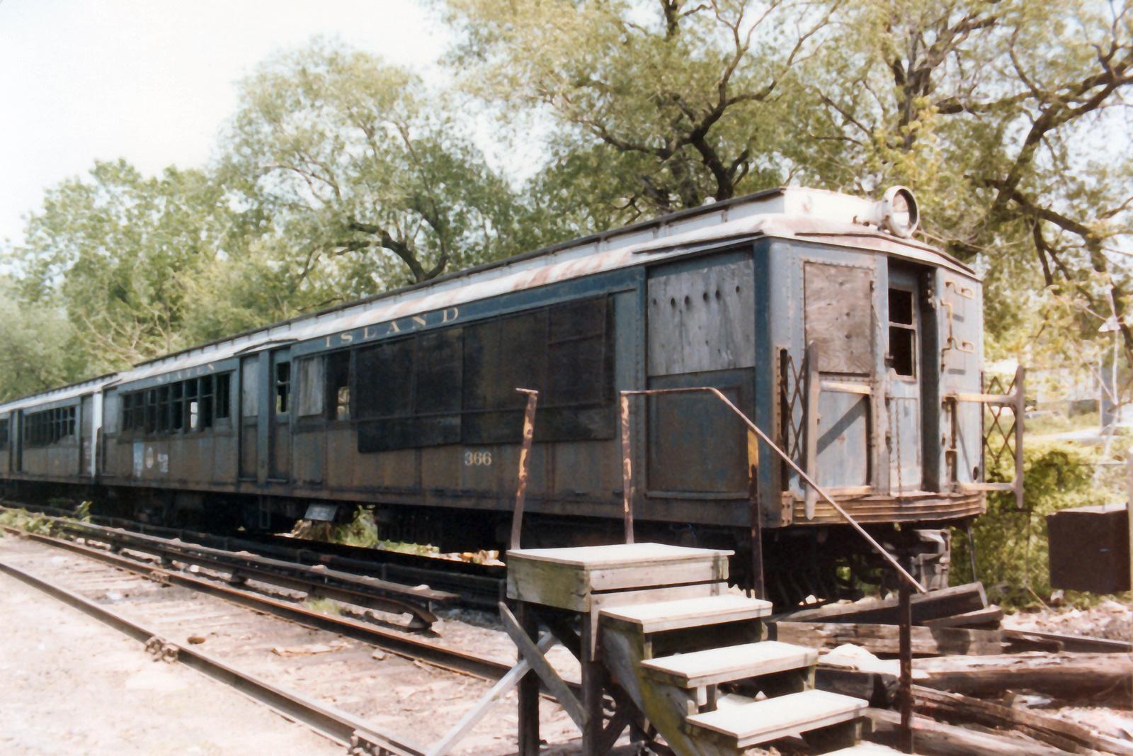 (797k, 1600x1067)<br><b>Country:</b> United States<br><b>City:</b> New York<br><b>System:</b> New York City Transit<br><b>Line:</b> SIRT<br><b>Location:</b> Tottenville <br><b>Car:</b> SIRT ME-1 (Motor) 366 <br><b>Collection of:</b> Nicholas Fabrizio<br><b>Date:</b> 5/21/1984<br><b>Viewed (this week/total):</b> 2 / 356