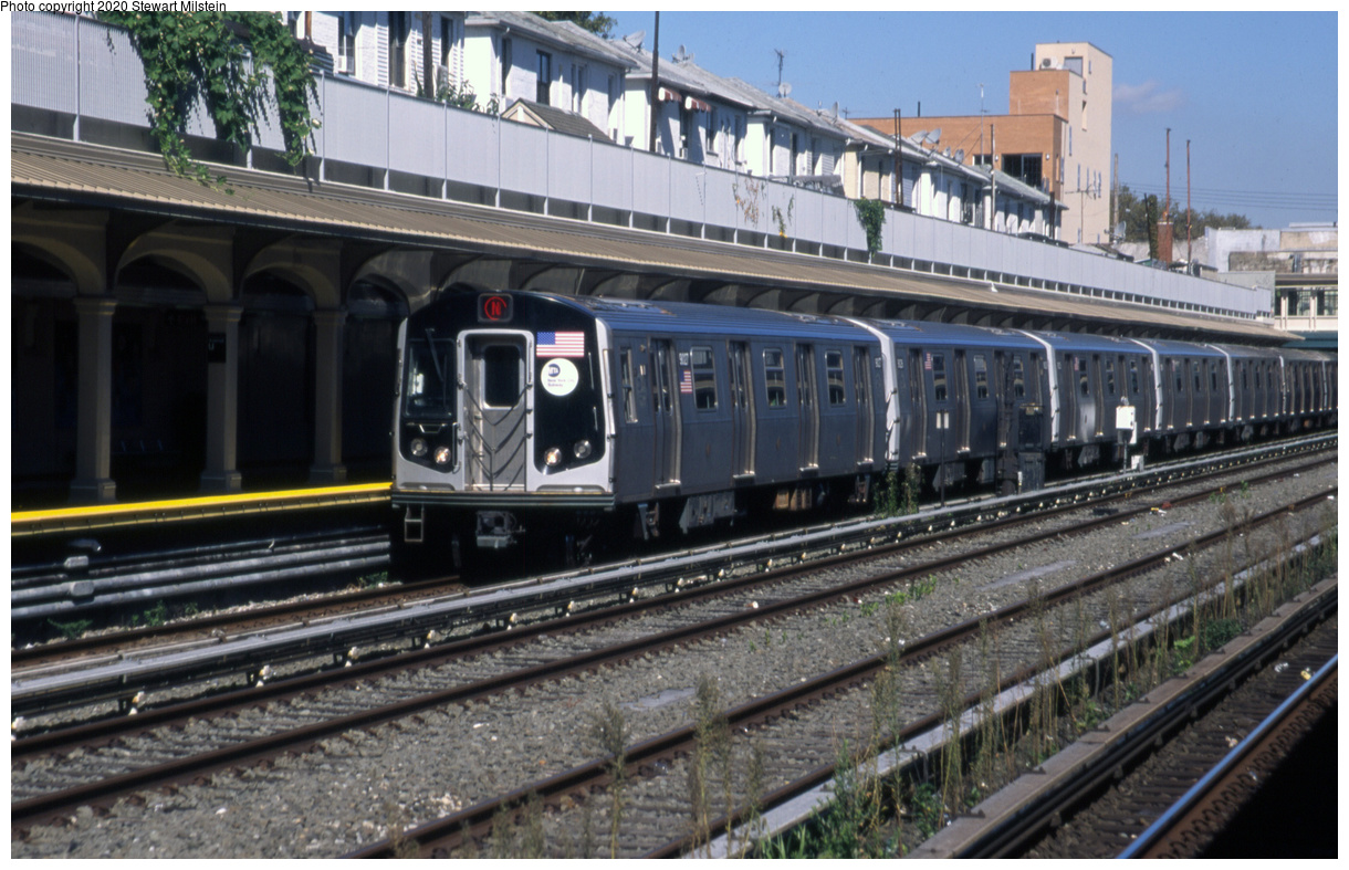 (711k, 1620x1043)<br><b>Country:</b> United States<br><b>City:</b> New York<br><b>System:</b> New York City Transit<br><b>Line:</b> BMT Sea Beach Line<br><b>Location:</b> Avenue U <br><b>Route:</b> N<br><b>Car:</b> R-160B (Option 1) (Kawasaki, 2008-2009)  9027 <br><b>Photo by:</b> Stewart Milstein<br><b>Date:</b> 9/27/2019<br><b>Viewed (this week/total):</b> 3 / 176