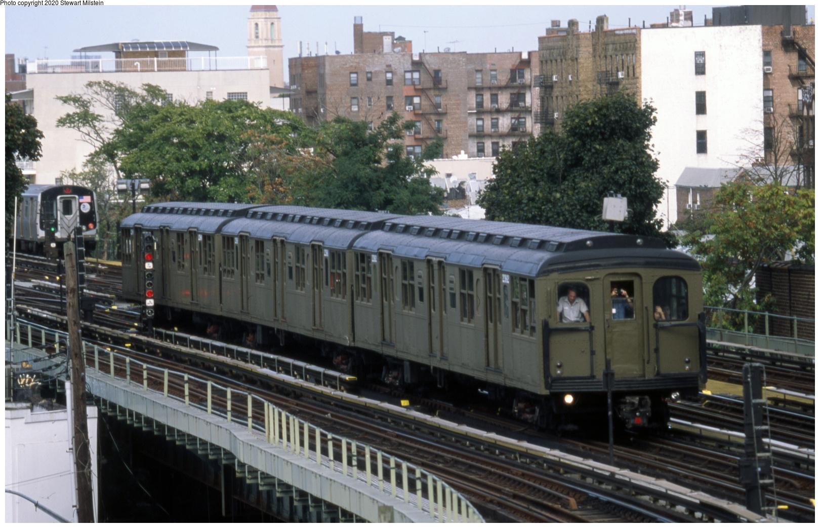 (687k, 1620x1042)<br><b>Country:</b> United States<br><b>City:</b> New York<br><b>System:</b> New York City Transit<br><b>Line:</b> BMT Brighton Line<br><b>Location:</b> Brighton Beach<br><b>Route:</b> Museum Train Service<br><b>Car:</b> BMT A/B-Type Standard 2392 <br><b>Photo by:</b> Stewart Milstein<br><b>Date:</b> 9/28/2019<br><b>Viewed (this week/total):</b> 0 / 172