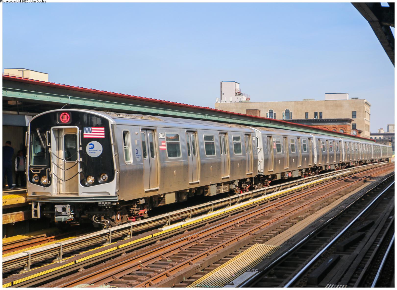 (833k, 1620x1184)<br><b>Country:</b> United States<br><b>City:</b> New York<br><b>System:</b> New York City Transit<br><b>Line:</b> BMT Nassau Street/Jamaica Line<br><b>Location:</b> Flushing Avenue <br><b>Route:</b> J<br><b>Car:</b> R-179 (Bombardier, 2016-2019) 3093 <br><b>Photo by:</b> John Dooley<br><b>Date:</b> 5/14/2018<br><b>Viewed (this week/total):</b> 9 / 44