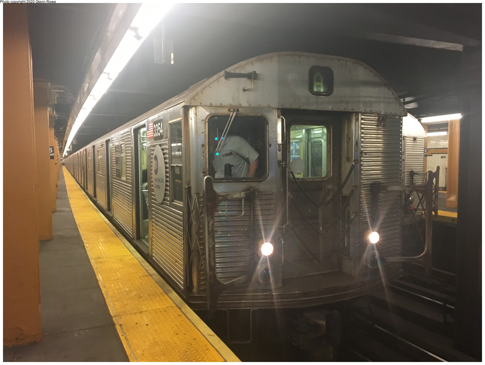 (561k, 1620x1220)<br><b>Country:</b> United States<br><b>City:</b> New York<br><b>System:</b> New York City Transit<br><b>Line:</b> IND 8th Avenue Line<br><b>Location:</b> 145th Street <br><b>Route:</b> C<br><b>Car:</b> R-32 (Budd, 1964)  3354 <br><b>Photo by:</b> Glenn L. Rowe<br><b>Date:</b> 8/23/2019<br><b>Viewed (this week/total):</b> 19 / 68