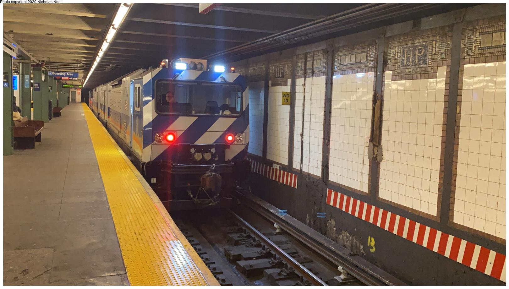 (483k, 1620x920)<br><b>Country:</b> United States<br><b>City:</b> New York<br><b>System:</b> New York City Transit<br><b>Line:</b> IRT Pelham Line<br><b>Location:</b> Hunts Point Avenue <br><b>Route:</b> Work Service<br><b>Car:</b> VakTrak Vacuum Train  VT501 <br><b>Photo by:</b> Nicholas Noel<br><b>Date:</b> 1/28/2020<br><b>Viewed (this week/total):</b> 12 / 40