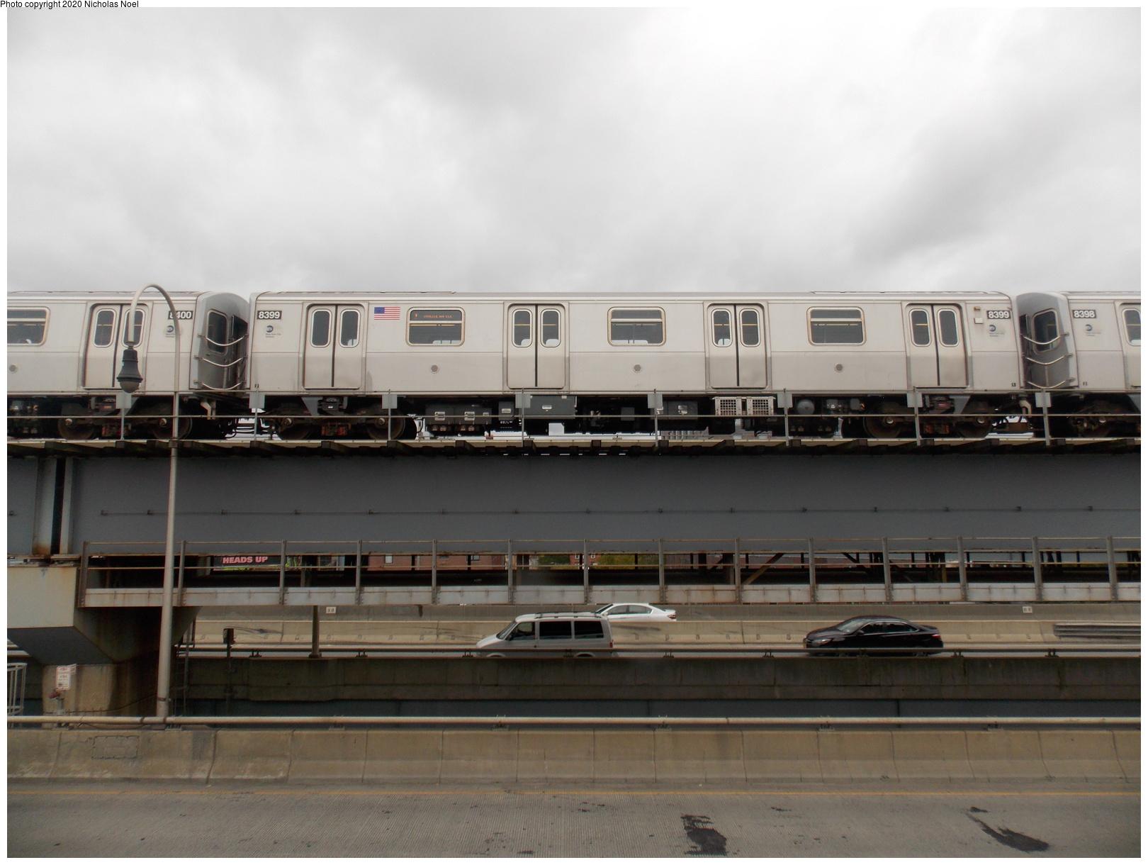 (566k, 1620x1220)<br><b>Country:</b> United States<br><b>City:</b> New York<br><b>System:</b> New York City Transit<br><b>Line:</b> BMT Nassau Street-Jamaica Line<br><b>Location:</b> Williamsburg Bridge<br><b>Route:</b> J<br><b>Car:</b> R-160A-1 (Alstom, 2005-2008, 4 car sets) 8399 <br><b>Photo by:</b> Nicholas Noel<br><b>Date:</b> 10/22/2016<br><b>Viewed (this week/total):</b> 0 / 230