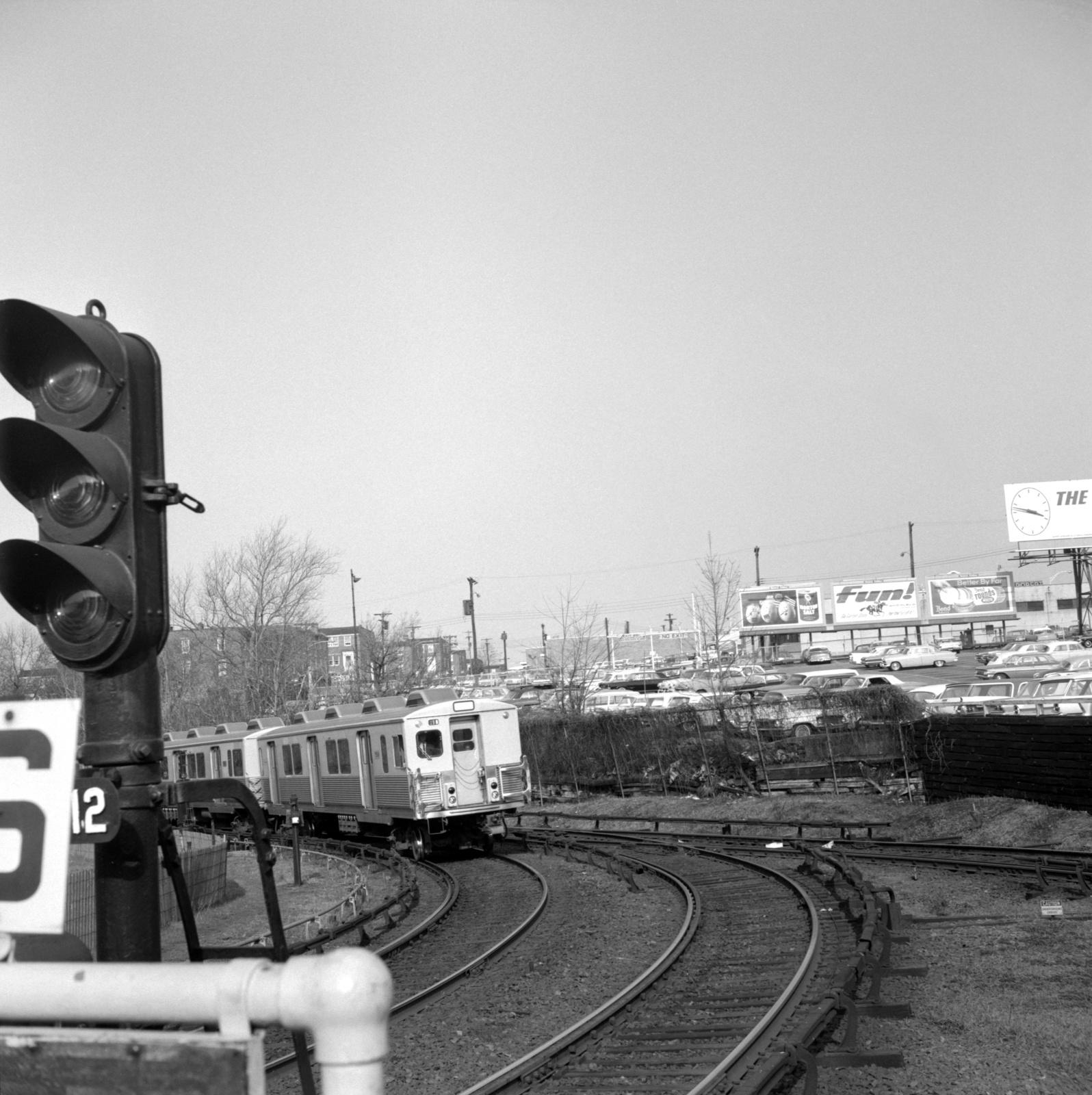 (718k, 1596x1600)<br><b>Country:</b> United States<br><b>City:</b> Philadelphia, PA<br><b>System:</b> SEPTA (or Predecessor)<br><b>Line:</b> Market-Frankford El<br><b>Location:</b> 69th Street<br><b>Car:</b> SEPTA M-3 (Budd, 1960)  <br><b>Collection of:</b> David Pirmann<br><b>Date:</b> 4/11/1964<br><b>Viewed (this week/total):</b> 1 / 52