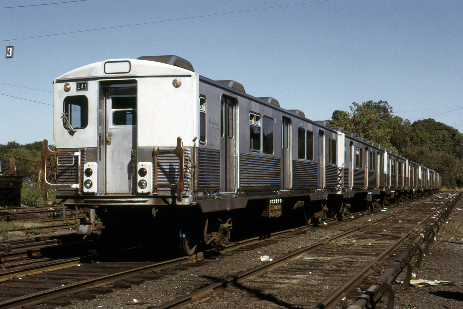 (781k, 1600x1067)<br><b>Country:</b> United States<br><b>City:</b> Philadelphia, PA<br><b>System:</b> SEPTA (or Predecessor)<br><b>Line:</b> Market-Frankford El<br><b>Location:</b> 69th Street Yard/Shops<br><b>Car:</b> SEPTA M-3 (Budd, 1960)  <br><b>Collection of:</b> David Pirmann<br><b>Viewed (this week/total):</b> 1 / 80
