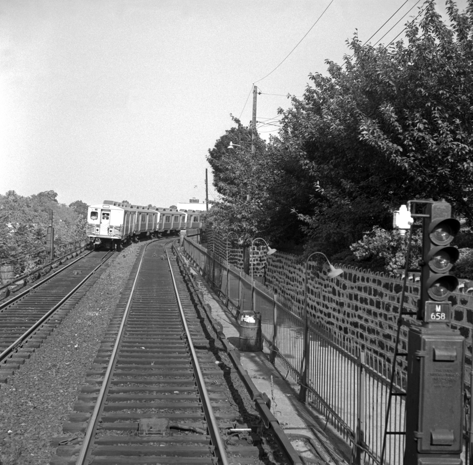 (850k, 1600x1573)<br><b>Country:</b> United States<br><b>City:</b> Philadelphia, PA<br><b>System:</b> SEPTA (or Predecessor)<br><b>Line:</b> Market-Frankford El<br><b>Location:</b> Millbourne<br><b>Car:</b> SEPTA M-3 (Budd, 1960)  <br><b>Collection of:</b> David Pirmann<br><b>Date:</b> 6/12/1967<br><b>Viewed (this week/total):</b> 0 / 60