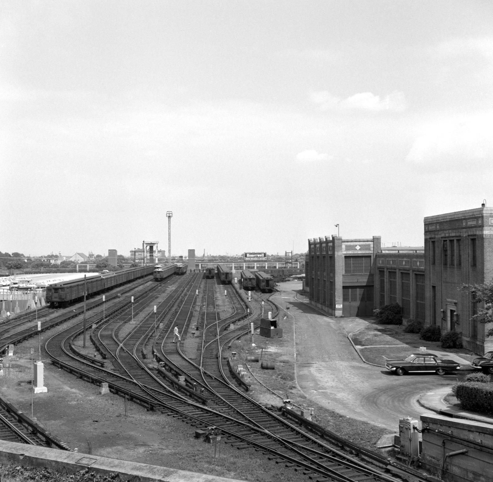 (708k, 1600x1564)<br><b>Country:</b> United States<br><b>City:</b> Philadelphia, PA<br><b>System:</b> SEPTA (or Predecessor)<br><b>Line:</b> Broad Street Subway<br><b>Location:</b> Fern Rock Yard/Shops<br><b>Collection of:</b> David Pirmann<br><b>Date:</b> 6/15/1963<br><b>Viewed (this week/total):</b> 0 / 63