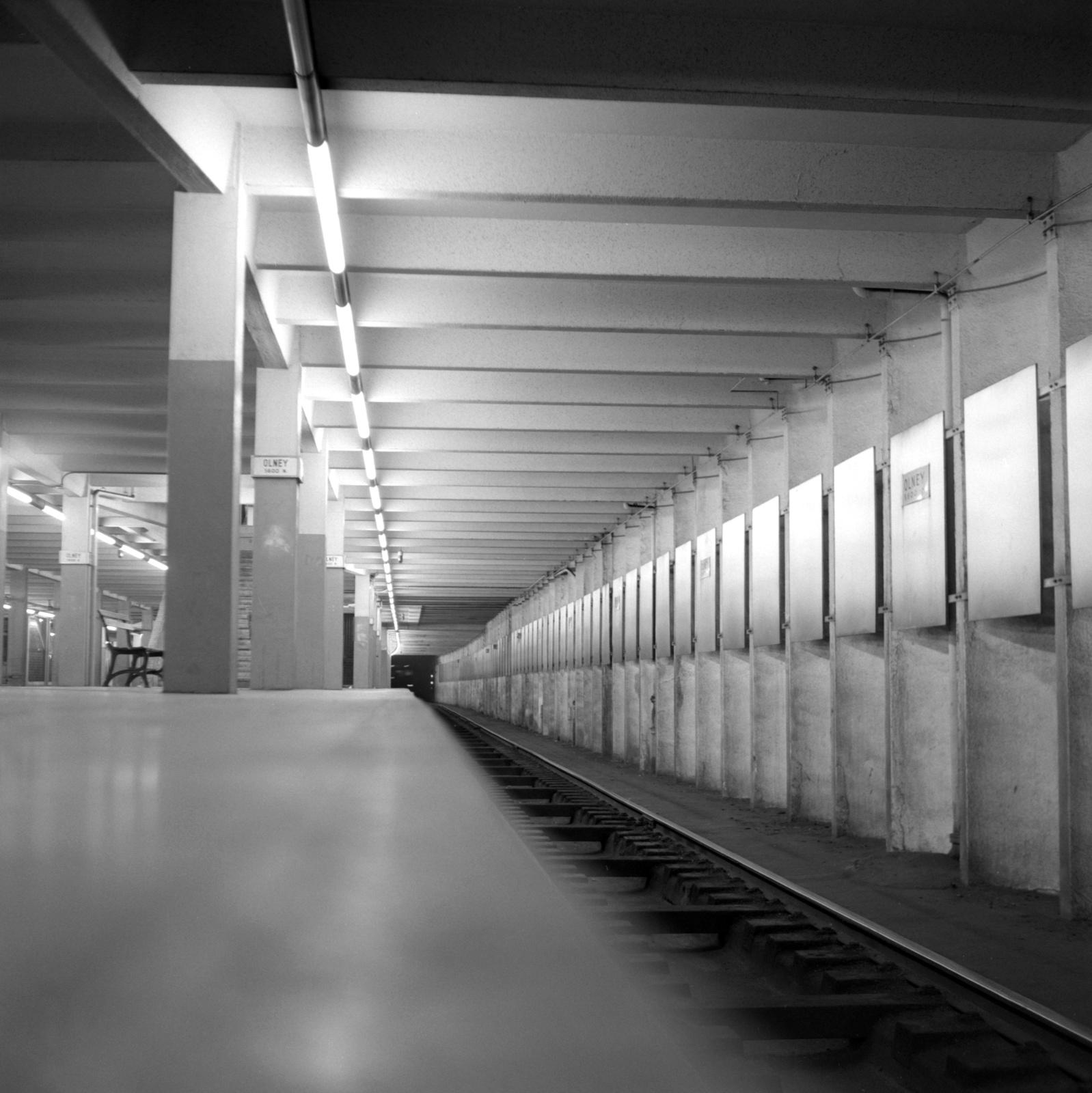 (565k, 1598x1600)<br><b>Country:</b> United States<br><b>City:</b> Philadelphia, PA<br><b>System:</b> SEPTA (or Predecessor)<br><b>Line:</b> Broad Street Subway<br><b>Location:</b> Olney<br><b>Collection of:</b> David Pirmann<br><b>Date:</b> 10/26/1968<br><b>Viewed (this week/total):</b> 2 / 64
