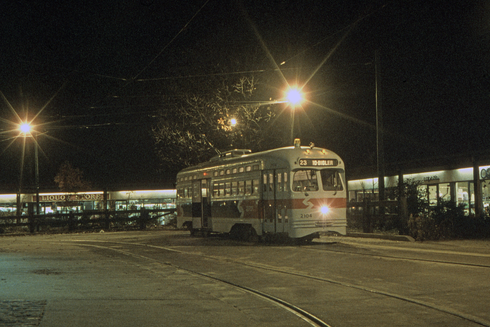 (901k, 1600x1067)<br><b>Country:</b> United States<br><b>City:</b> Philadelphia, PA<br><b>System:</b> SEPTA (or Predecessor)<br><b>Line:</b> Rt. 23-Germantown<br><b>Location:</b> Bethlehem Pike/Chestnut Hill Loop<br><b>Car:</b> PTC/SEPTA Postwar All-electric PCC (St.Louis, 1948) 2124 <br><b>Collection of:</b> David Pirmann<br><b>Viewed (this week/total):</b> 1 / 42