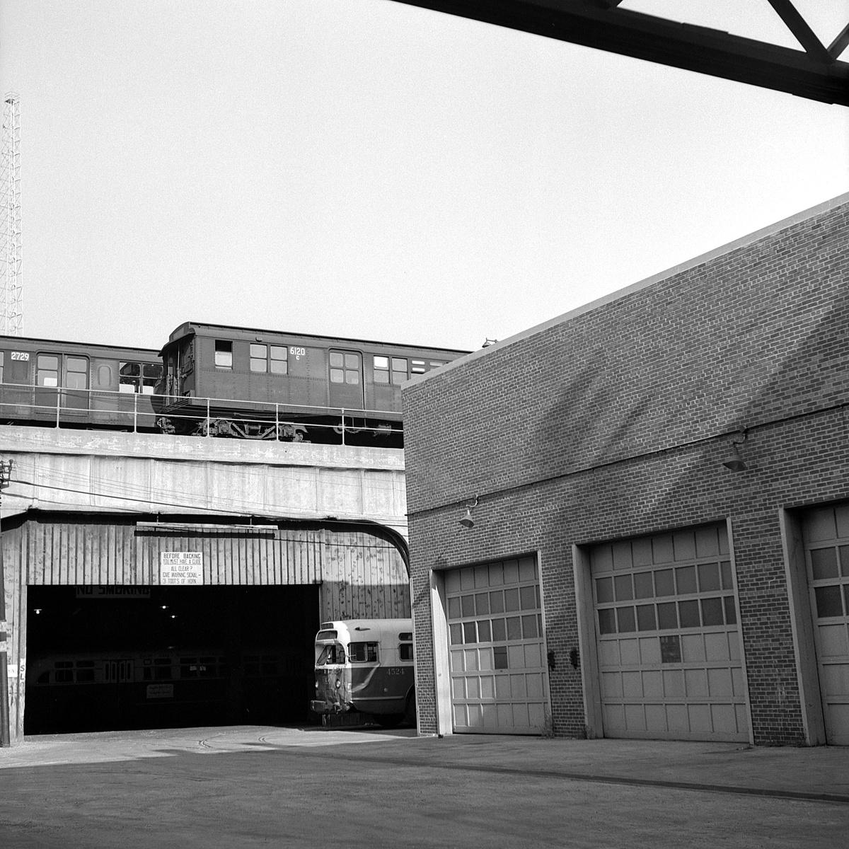 (576k, 1200x1200)<br><b>Country:</b> United States<br><b>City:</b> New York<br><b>System:</b> New York City Transit<br><b>Location:</b> East New York Yard/Shops<br><b>Car:</b> BMT D-Type Triplex 6120 <br><b>Collection of:</b> David Pirmann<br><b>Date:</b> 10/19/1962<br><b>Viewed (this week/total):</b> 3 / 117