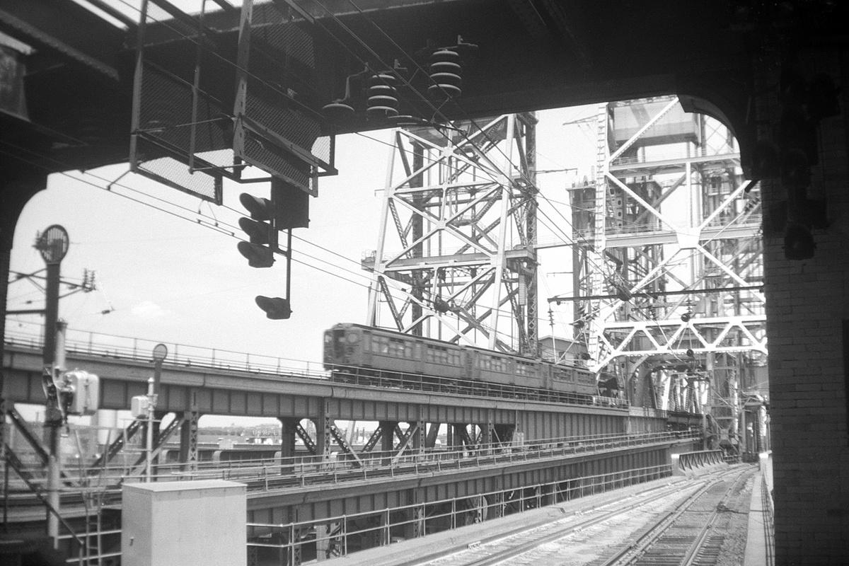 (389k, 1200x800)<br><b>Country:</b> United States<br><b>City:</b> Newark, NJ<br><b>System:</b> PATH<br><b>Location:</b> Newark (Penn Station)<br><b>Car:</b> H&M  <br><b>Collection of:</b> David Pirmann<br><b>Date:</b> 7/13/1958<br><b>Viewed (this week/total):</b> 2 / 60