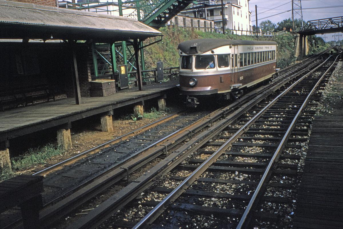 (689k, 1200x800)<br><b>Country:</b> United States<br><b>City:</b> Philadelphia, PA<br><b>System:</b> SEPTA (or Predecessor)<br><b>Line:</b> 100-Norristown<br><b>Location:</b> Bryn Mawr<br><b>Car:</b> PSTC/SEPTA Bullet (J.G. Brill Co., 1931-1934) 202 <br><b>Collection of:</b> David Pirmann<br><b>Viewed (this week/total):</b> 2 / 29