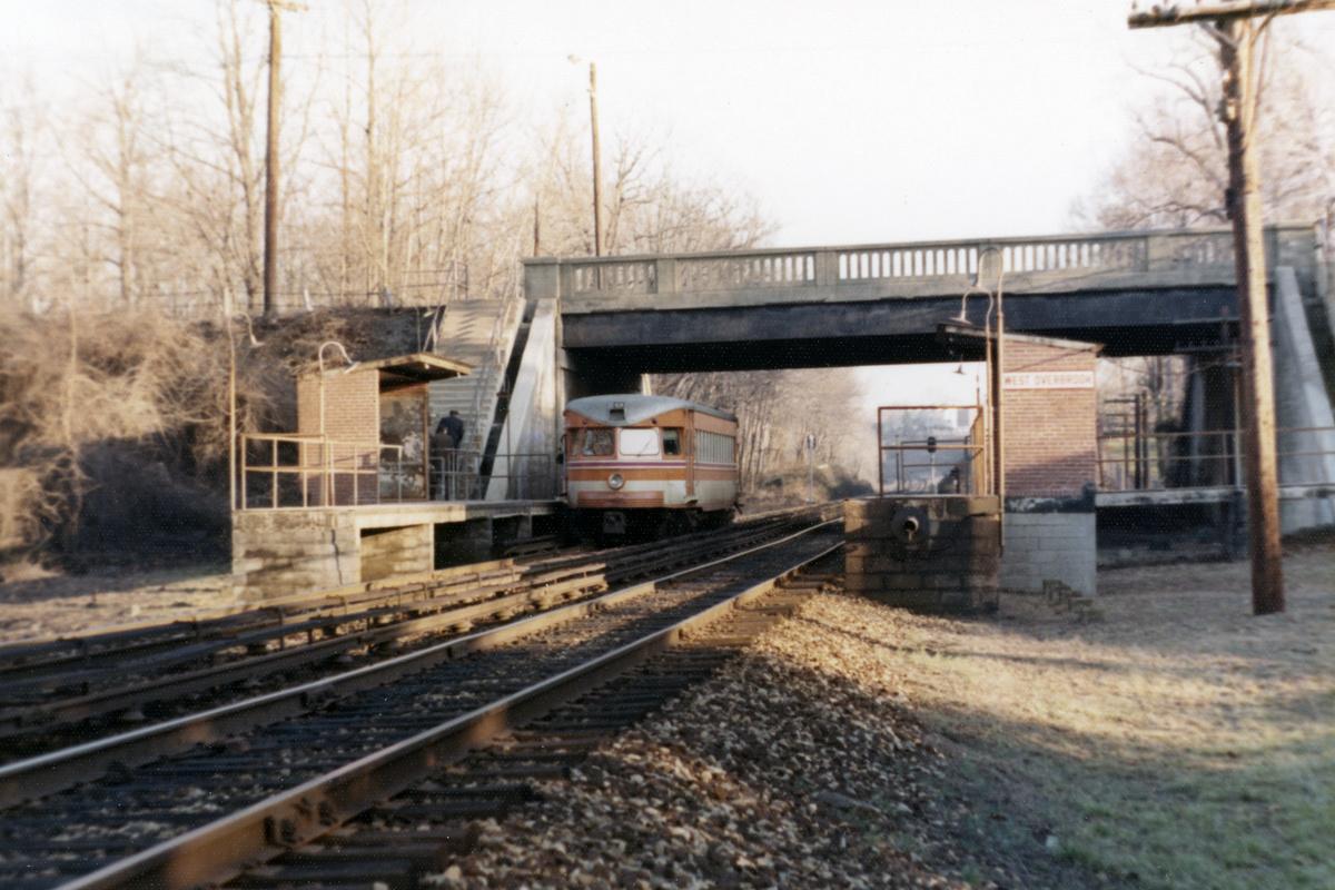(441k, 1200x800)<br><b>Country:</b> United States<br><b>City:</b> Philadelphia, PA<br><b>System:</b> SEPTA (or Predecessor)<br><b>Line:</b> 100-Norristown<br><b>Location:</b> Township Line Road (West Overbrook)<br><b>Car:</b> PSTC/SEPTA Bullet (J.G. Brill Co., 1931-1934) 209 <br><b>Photo by:</b> Ralph Curcio<br><b>Collection of:</b> David Pirmann<br><b>Date:</b> 1974<br><b>Viewed (this week/total):</b> 4 / 29