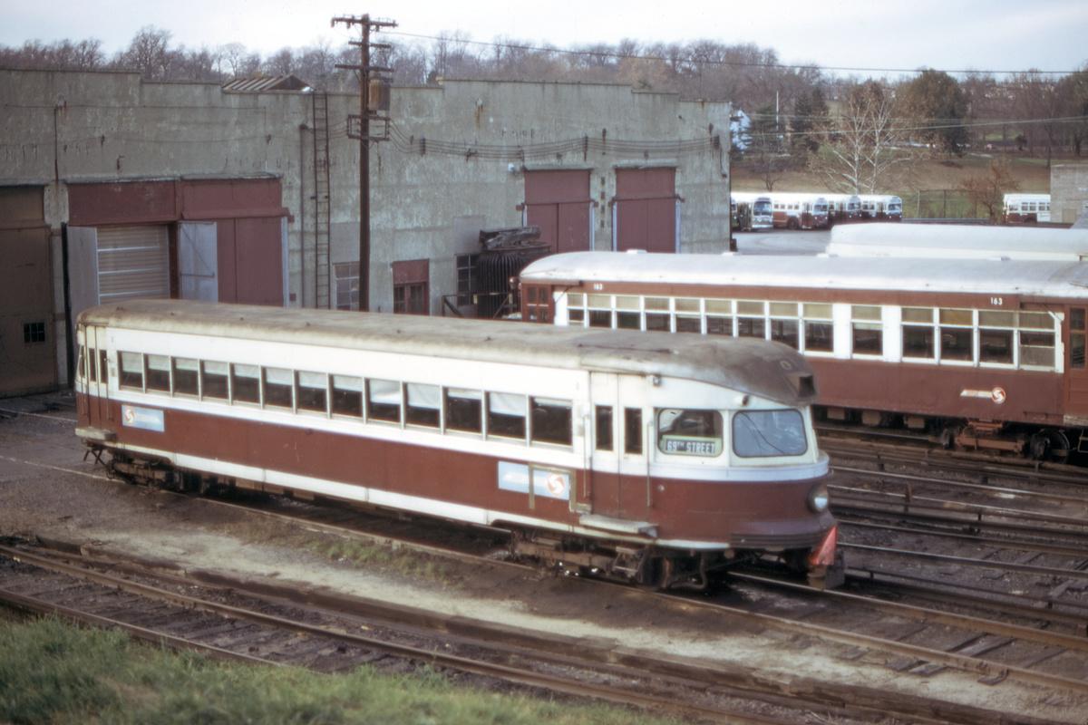 (395k, 1200x800)<br><b>Country:</b> United States<br><b>City:</b> Philadelphia, PA<br><b>System:</b> SEPTA (or Predecessor)<br><b>Line:</b> 100-Norristown<br><b>Location:</b> 72nd (69th) St. Yard-Norristown Line<br><b>Car:</b> PSTC/SEPTA Bullet (J.G. Brill Co., 1931-1934) 200 <br><b>Collection of:</b> David Pirmann<br><b>Date:</b> 11/1974<br><b>Viewed (this week/total):</b> 2 / 29