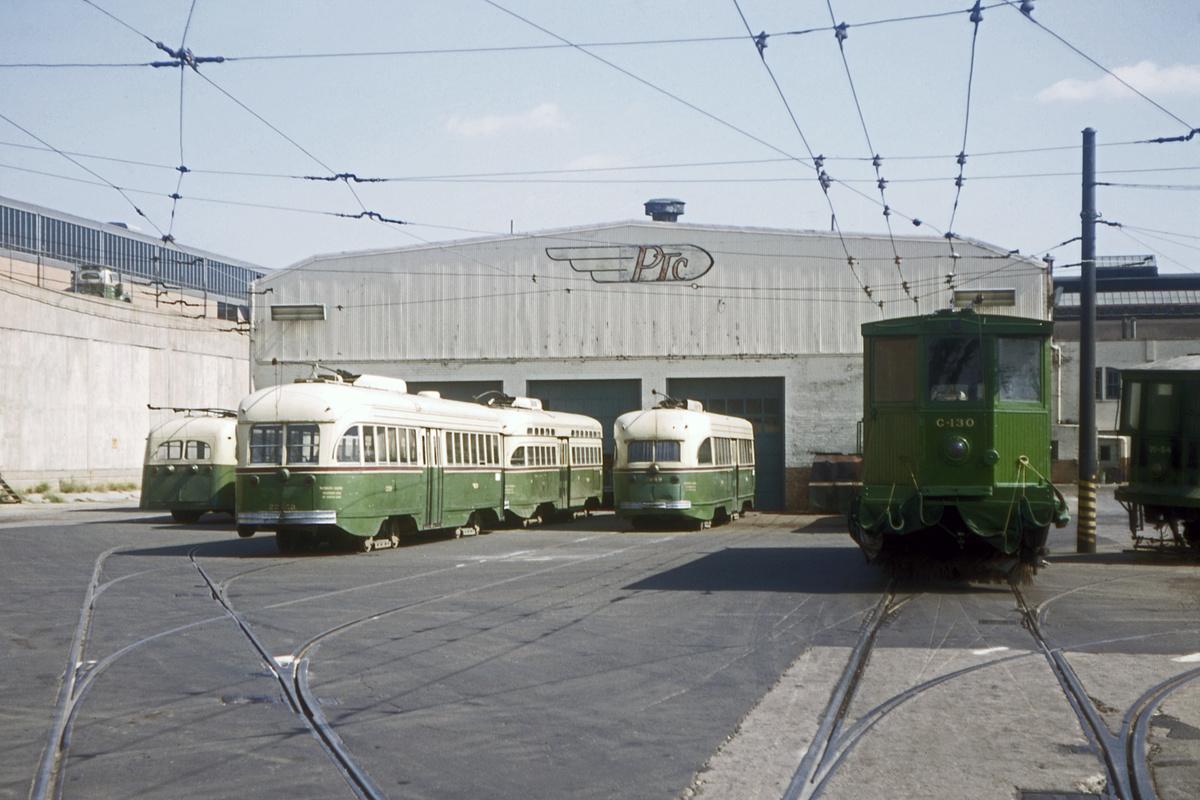 (384k, 1200x800)<br><b>Country:</b> United States<br><b>City:</b> Philadelphia, PA<br><b>System:</b> SEPTA (or Predecessor)<br><b>Location:</b> Wyoming Depot - Courtland/3rd Shops<br><b>Car:</b> PTC/SEPTA ex-Toronto/ex-Kansas City PCC (St.Louis, 1946) 2250-2249-C130 <br><b>Collection of:</b> David Pirmann<br><b>Date:</b> 5/1969<br><b>Viewed (this week/total):</b> 1 / 83