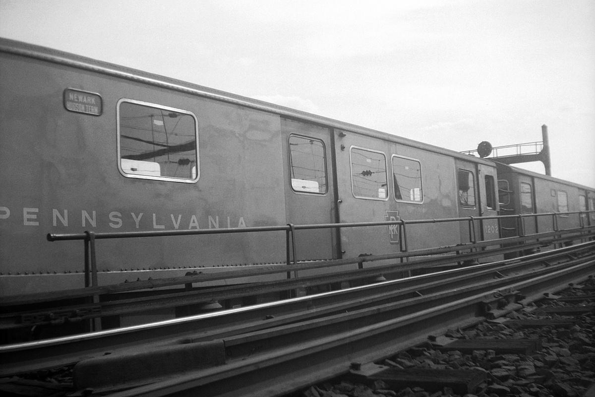 (307k, 1200x800)<br><b>Country:</b> United States<br><b>City:</b> Newark, NJ<br><b>System:</b> PATH<br><b>Location:</b> Waverly Yard<br><b>Car:</b> H&M K-class/PRR MP-52 1202 <br><b>Collection of:</b> David Pirmann<br><b>Viewed (this week/total):</b> 0 / 76