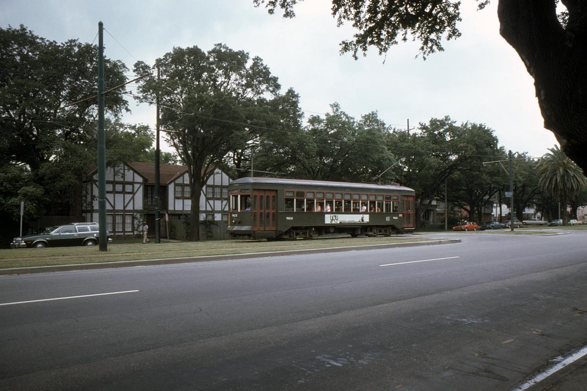 (460k, 1200x800)<br><b>Country:</b> United States<br><b>City:</b> New Orleans, LA<br><b>System:</b> New Orleans RTA<br><b>Line:</b> St. Charles<br><b>Location:</b> St. Charles Line-Location Uncertain<br><b>Car:</b> New Orleans Public Service (Perley A. Thomas Car Works, 1924) 922 <br><b>Collection of:</b> David Pirmann<br><b>Date:</b> 6/1976<br><b>Viewed (this week/total):</b> 3 / 52