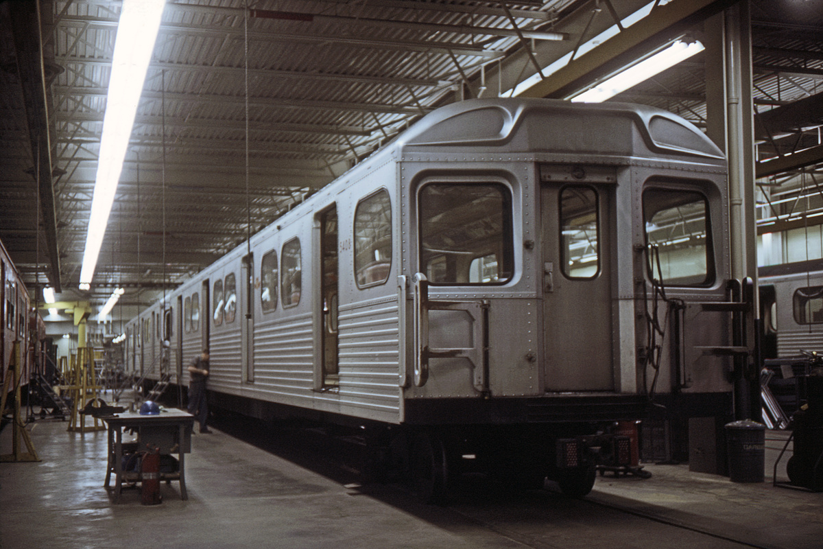 (456k, 1200x800)<br><b>Country:</b> Canada<br><b>City:</b> Toronto<br><b>System:</b> TTC<br><b>Line:</b> TTC Yonge-University-Spadina Subway<br><b>Car:</b>  5408 <br><b>Photo by:</b> Doug Grotjahn<br><b>Collection of:</b> David Pirmann<br><b>Date:</b> 6/1969<br><b>Viewed (this week/total):</b> 0 / 77