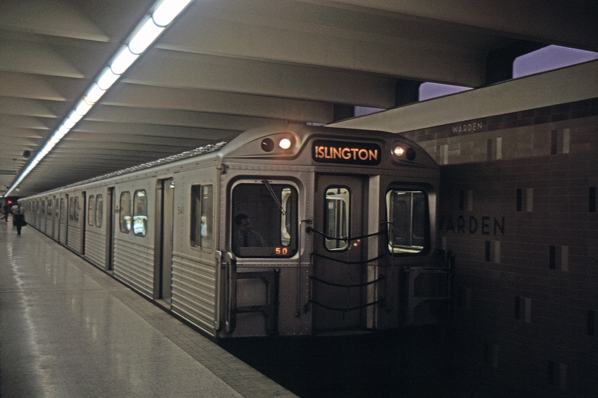 (437k, 1200x800)<br><b>Country:</b> Canada<br><b>City:</b> Toronto<br><b>System:</b> TTC<br><b>Line:</b> TTC Bloor-Danforth Subway<br><b>Location:</b> Warden<br><b>Car:</b>  54xx <br><b>Collection of:</b> David Pirmann<br><b>Viewed (this week/total):</b> 1 / 90