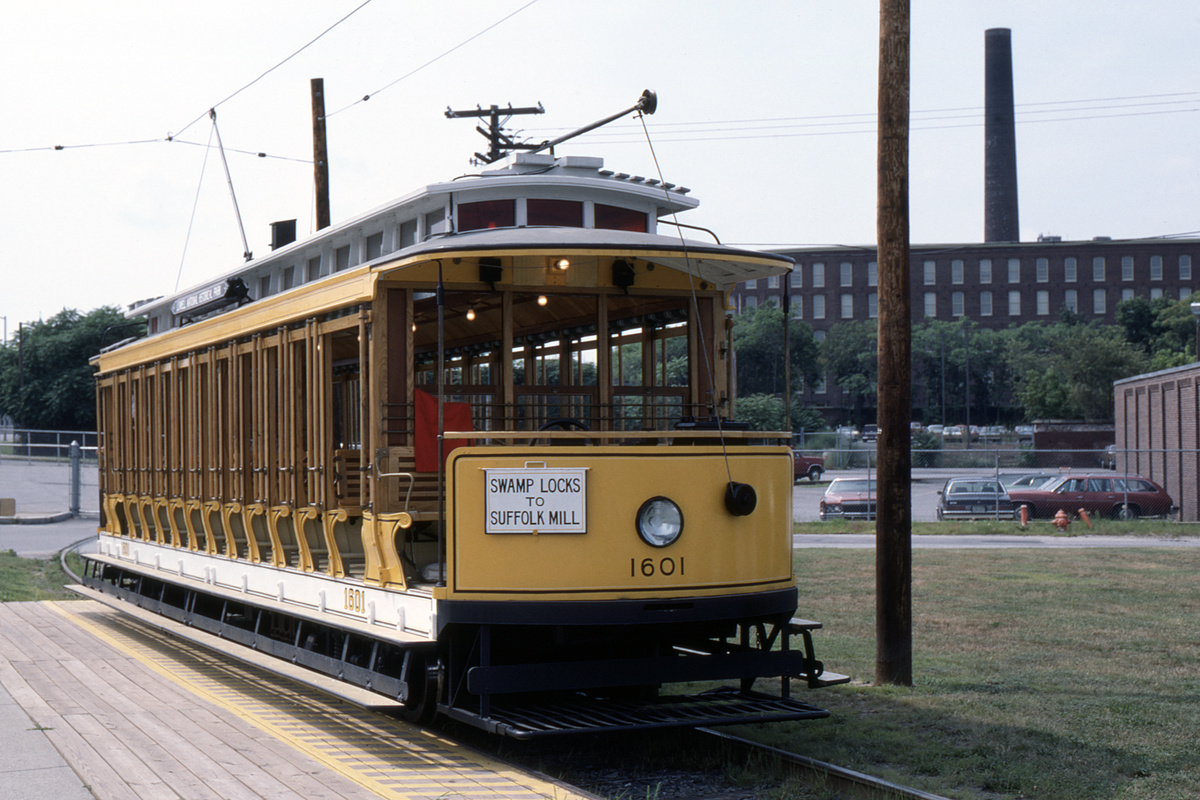 (439k, 1200x800)<br><b>Country:</b> United States<br><b>City:</b> Lowell, MA<br><b>System:</b> National Streetcar Museum at Lowell<br><b>Car:</b>  1601 <br><b>Photo by:</b> G.E. Lloyd<br><b>Collection of:</b> David Pirmann<br><b>Date:</b> 8/3/1984<br><b>Viewed (this week/total):</b> 0 / 53