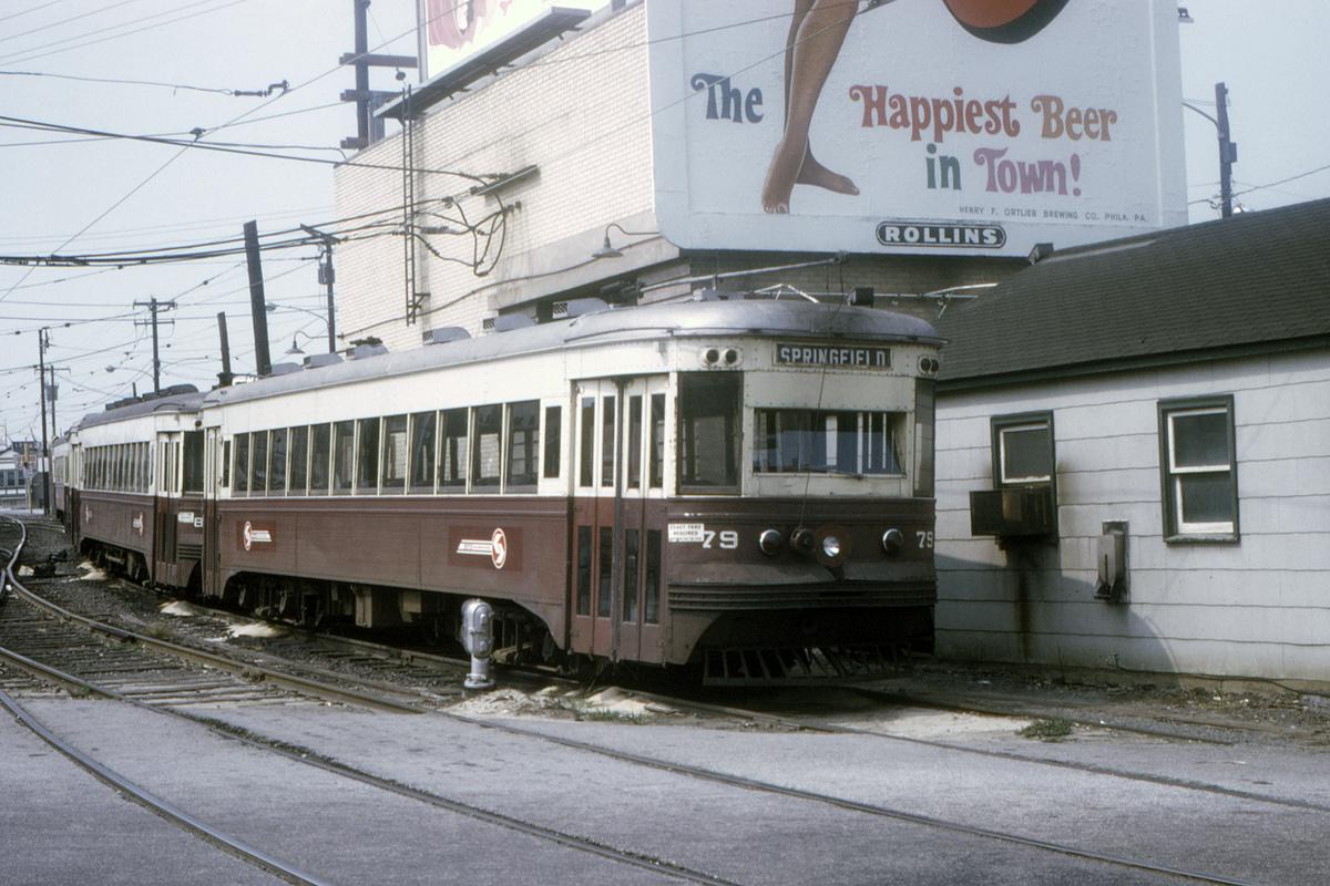 (459k, 1200x800)<br><b>Country:</b> United States<br><b>City:</b> Philadelphia, PA<br><b>System:</b> SEPTA (or Predecessor)<br><b>Line:</b> Rt. 101-Media/102-Sharon Hill<br><b>Location:</b> 69th Street<br><b>Car:</b> PSTC Master Unit Suburban (J.G. Brill, 1932) 79 <br><b>Collection of:</b> David Pirmann<br><b>Date:</b> 8/1970<br><b>Viewed (this week/total):</b> 2 / 52