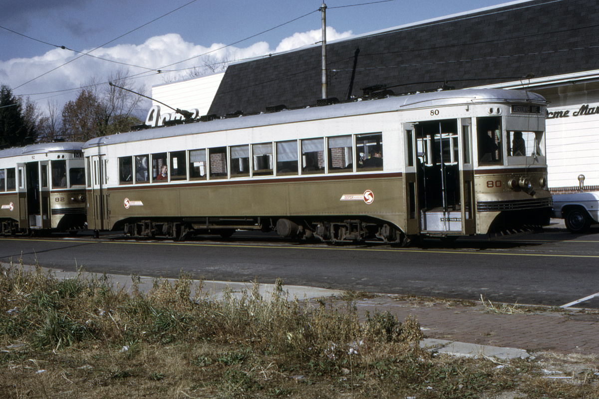 (565k, 1200x800)<br><b>Country:</b> United States<br><b>City:</b> Philadelphia, PA<br><b>System:</b> SEPTA (or Predecessor)<br><b>Line:</b> Rt. 101-Media<br><b>Location:</b> Orange Street/State Street<br><b>Car:</b> PSTC Master Unit Suburban (J.G. Brill, 1932) 80-82 <br><b>Collection of:</b> David Pirmann<br><b>Date:</b> 11/1971<br><b>Viewed (this week/total):</b> 0 / 52