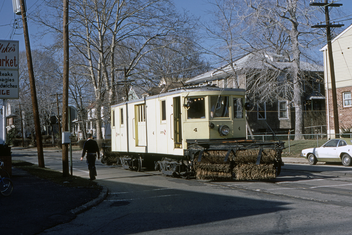 (675k, 1200x800)<br><b>Country:</b> United States<br><b>City:</b> Philadelphia, PA<br><b>System:</b> SEPTA (or Predecessor)<br><b>Line:</b> Rt. 102-Sharon Hill<br><b>Location:</b> North Street/Woodlawn Avenue<br><b>Car:</b> PSTC 4 <br><b>Collection of:</b> David Pirmann<br><b>Date:</b> 3/14/1982<br><b>Viewed (this week/total):</b> 2 / 61