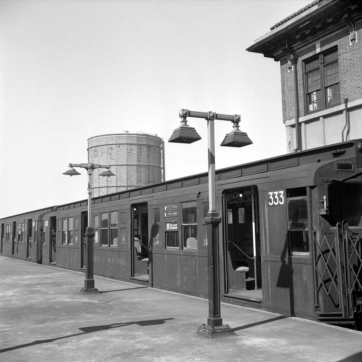 (572k, 1200x1200)<br><b>Country:</b> United States<br><b>City:</b> New York<br><b>System:</b> New York City Transit<br><b>Location:</b> Coney Island/Stillwell Avenue<br><b>Route:</b> B<br><b>Car:</b> R-1 (American Car & Foundry, 1930-1931) 333 <br><b>Collection of:</b> David Pirmann<br><b>Date:</b> 4/6/1968<br><b>Viewed (this week/total):</b> 11 / 98