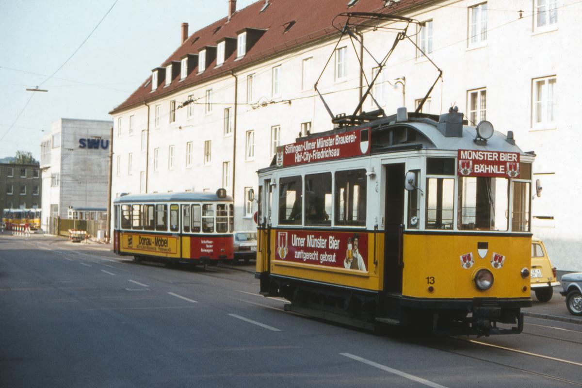(398k, 1200x800)<br><b>Country:</b> Germany<br><b>City:</b> Ulm<br><b>System:</b> SWU (Stadtwerke Ulm)<br><b>Car:</b>  13-23 <br><b>Photo by:</b> Barry Smith<br><b>Collection of:</b> David Pirmann<br><b>Date:</b> 5/31/1982<br><b>Viewed (this week/total):</b> 0 / 54
