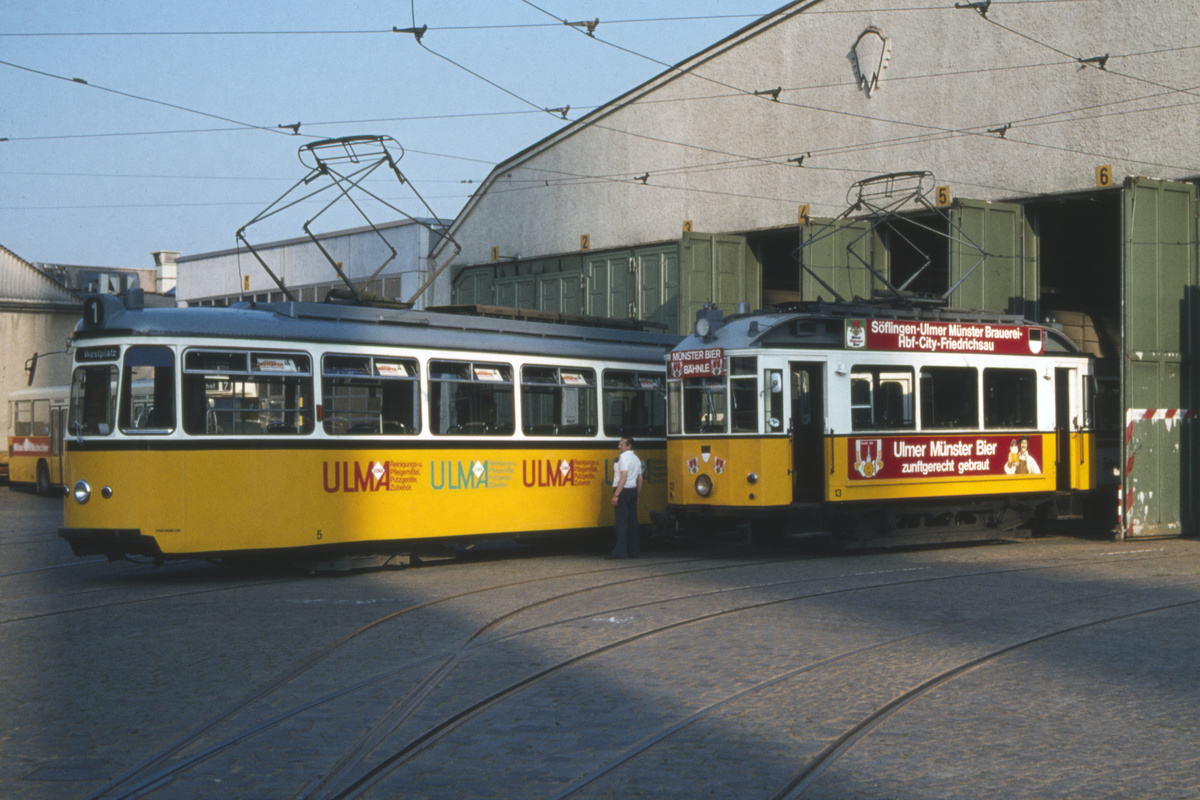 (426k, 1200x800)<br><b>Country:</b> Germany<br><b>City:</b> Ulm<br><b>System:</b> SWU (Stadtwerke Ulm)<br><b>Car:</b>  5 <br><b>Photo by:</b> Barry Smith<br><b>Collection of:</b> David Pirmann<br><b>Date:</b> 5/31/1982<br><b>Viewed (this week/total):</b> 0 / 7