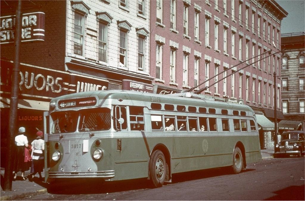 (229k, 1024x677)<br><b>Country:</b> United States<br><b>City:</b> New York<br><b>System:</b> B&QT Trolleybus<br><b>Location:</b> Nassau Ave/Manhattan Ave<br><b>Route:</b> B48<br><b>Car:</b>  3017 <br><b>Collection of:</b> Joe Testagrose<br><b>Viewed (this week/total):</b> 1 / 6179
