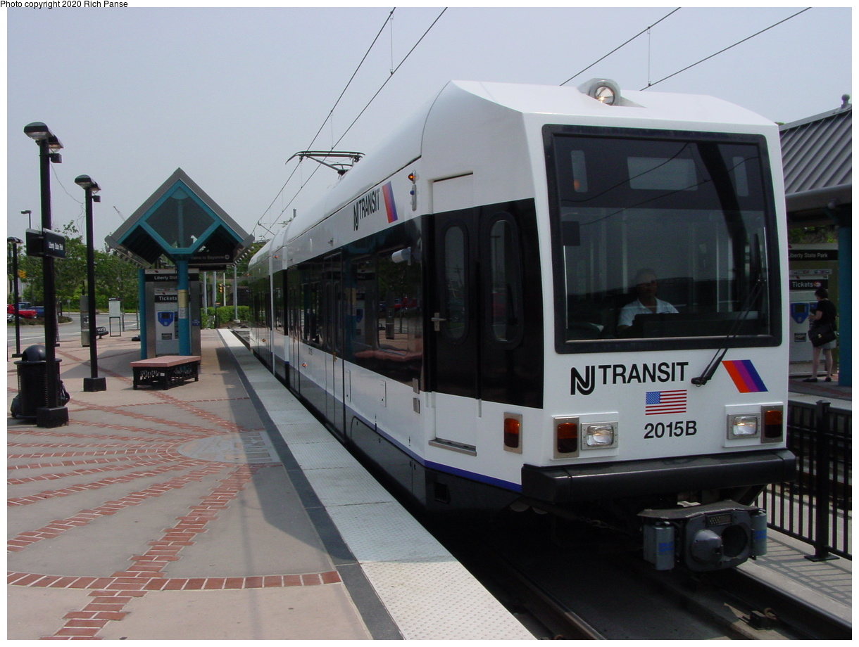 (361k, 1220x920)<br><b>Country:</b> United States<br><b>City:</b> Jersey City, NJ<br><b>System:</b> Hudson Bergen Light Rail<br><b>Location:</b> Liberty State Park<br><b>Car:</b> NJT-HBLR LRV (Kinki-Sharyo, 1998-99) 2015 <br><b>Photo by:</b> Richard Panse<br><b>Date:</b> 6/5/2002<br><b>Viewed (this week/total):</b> 3 / 11