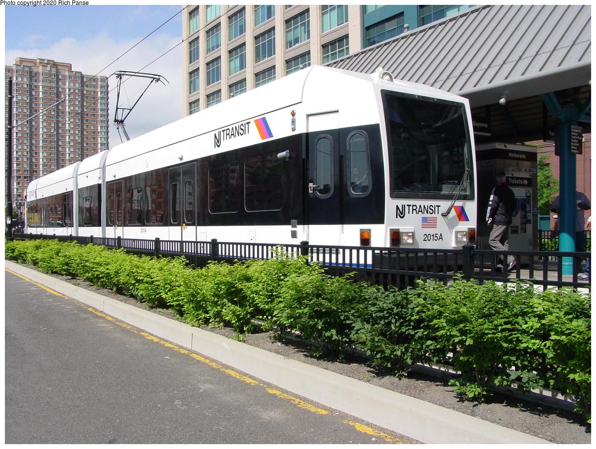 (558k, 1220x920)<br><b>Country:</b> United States<br><b>City:</b> Jersey City, NJ<br><b>System:</b> Hudson Bergen Light Rail<br><b>Location:</b> Harborside<br><b>Car:</b> NJT-HBLR LRV (Kinki-Sharyo, 1998-99) 2015 <br><b>Photo by:</b> Richard Panse<br><b>Date:</b> 6/16/2003<br><b>Viewed (this week/total):</b> 3 / 9