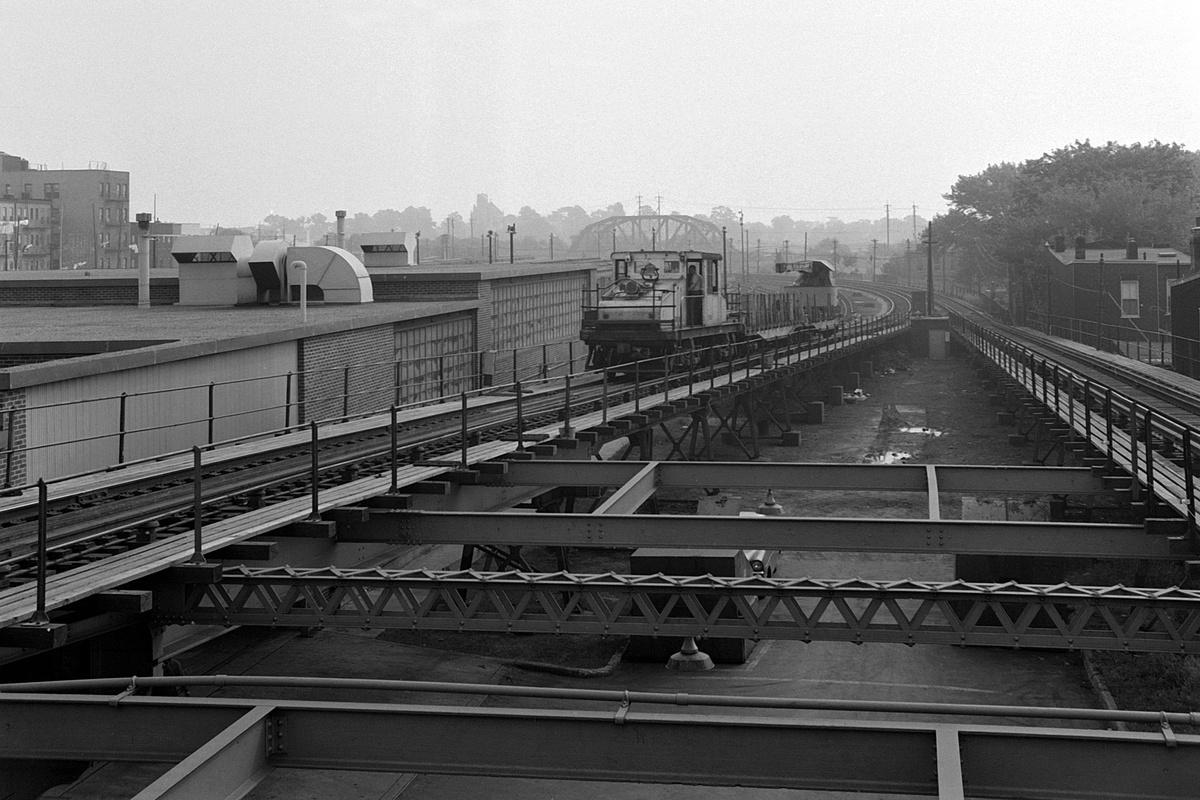 (359k, 1200x800)<br><b>Country:</b> United States<br><b>City:</b> New York<br><b>System:</b> New York City Transit<br><b>Line:</b> BMT Myrtle Avenue Line<br><b>Location:</b> Fresh Pond Road<br><b>Route:</b> Work Service<br><b>Car:</b> SBK Steeplecab 20003 <br><b>Collection of:</b> David Pirmann<br><b>Date:</b> 8/23/1963<br><b>Viewed (this week/total):</b> 0 / 120