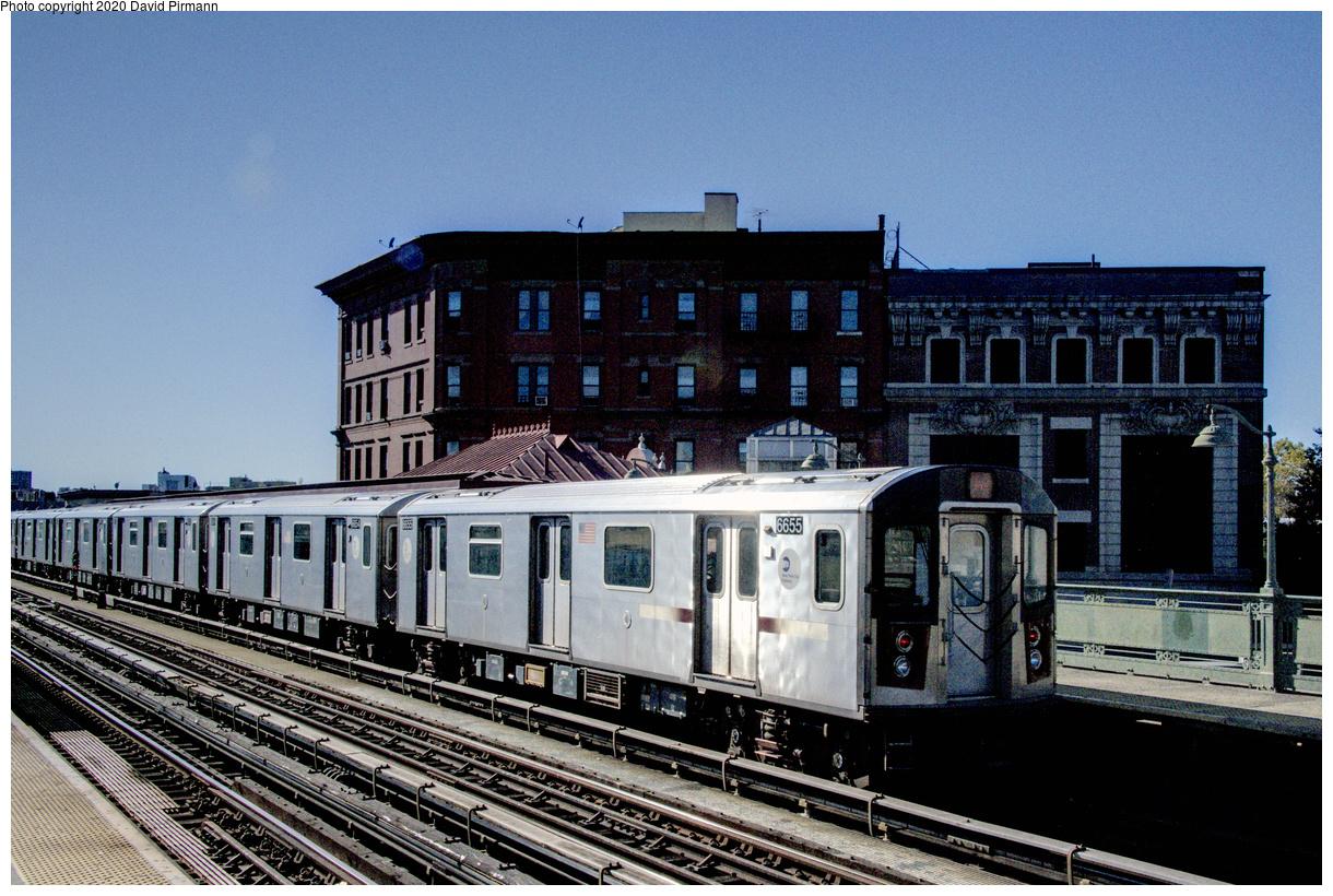 (682k, 1220x820)<br><b>Country:</b> United States<br><b>City:</b> New York<br><b>System:</b> New York City Transit<br><b>Line:</b> IRT White Plains Road Line<br><b>Location:</b> Simpson Street<br><b>Route:</b> 5<br><b>Car:</b> R-142 (Primary Order, Bombardier, 1999-2002) 6655 <br><b>Photo by:</b> David Pirmann<br><b>Date:</b> 10/20/2017<br><b>Viewed (this week/total):</b> 0 / 257