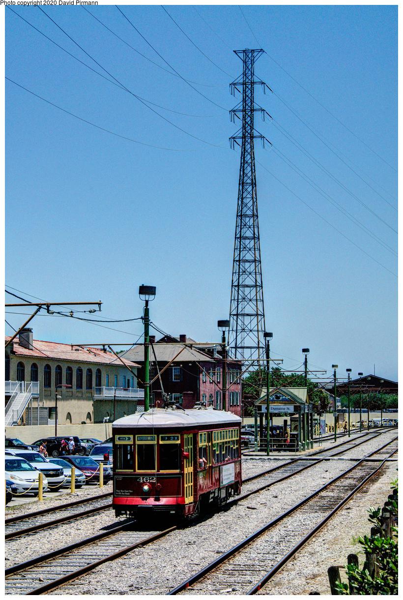 (834k, 820x1220)<br><b>Country:</b> United States<br><b>City:</b> New Orleans, LA<br><b>System:</b> New Orleans RTA<br><b>Line:</b> Riverfront<br><b>Location:</b> Riverfront/Jackson Square<br><b>Car:</b> New Orleans Public Service (Perley A. Thomas Car Works, 1924) 462 <br><b>Photo by:</b> David Pirmann<br><b>Date:</b> 5/25/2019<br><b>Viewed (this week/total):</b> 0 / 23