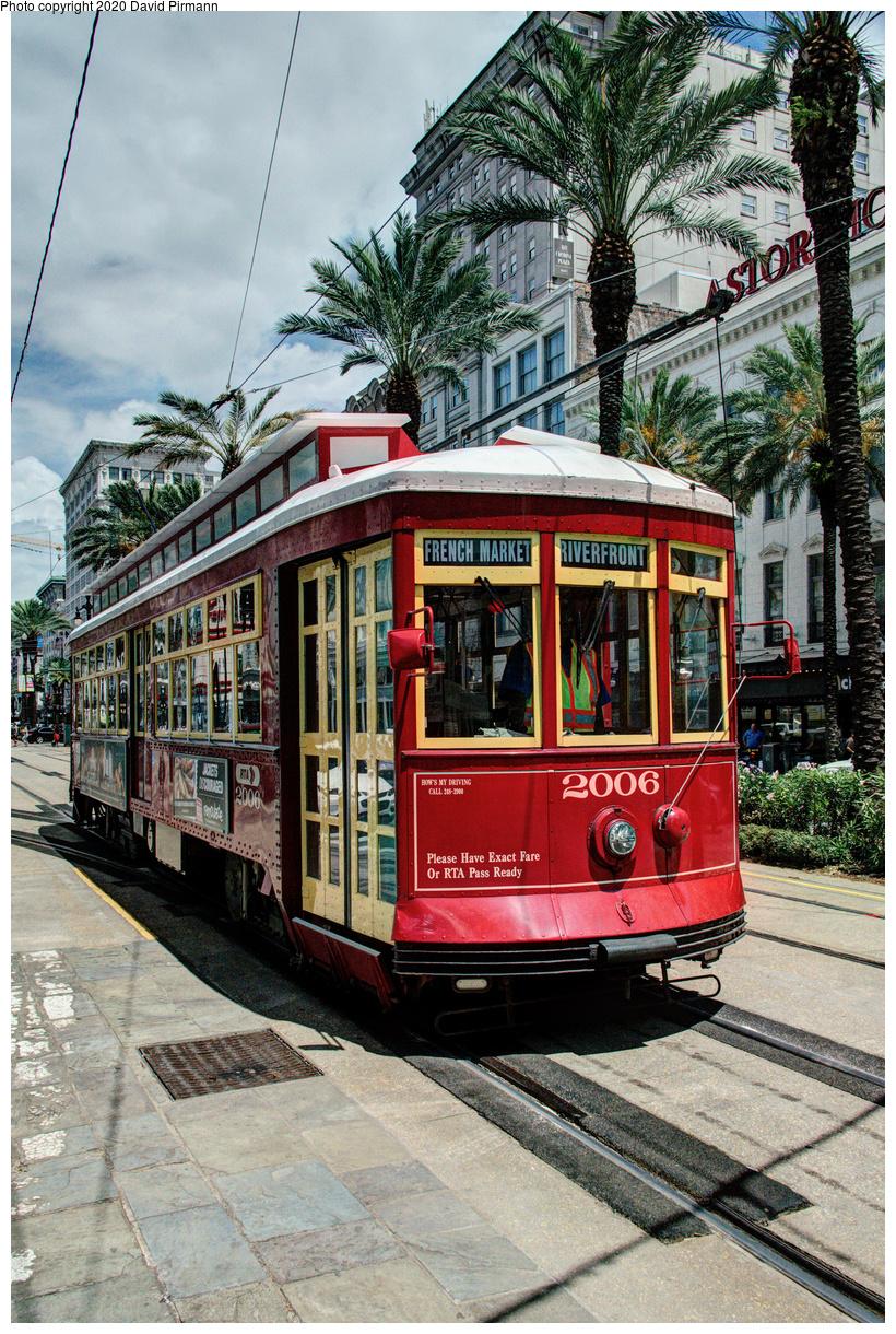 (862k, 820x1220)<br><b>Country:</b> United States<br><b>City:</b> New Orleans, LA<br><b>System:</b> New Orleans RTA<br><b>Line:</b> Canal Street<br><b>Location:</b> Canal/St. Charles/Royal<br><b>Car:</b> Perley Thomas Replica 2006 <br><b>Photo by:</b> David Pirmann<br><b>Date:</b> 5/27/2019<br><b>Viewed (this week/total):</b> 0 / 15