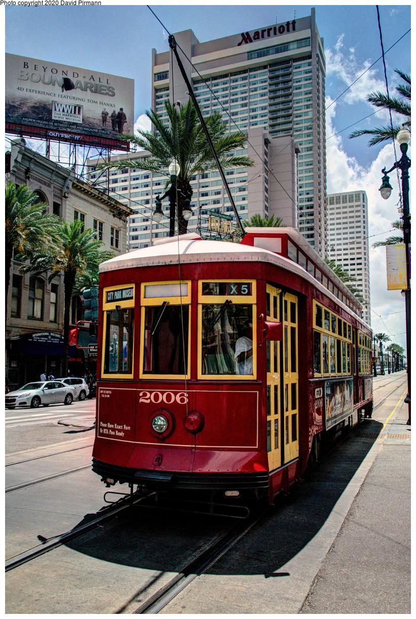 (810k, 820x1220)<br><b>Country:</b> United States<br><b>City:</b> New Orleans, LA<br><b>System:</b> New Orleans RTA<br><b>Line:</b> Canal Street<br><b>Location:</b> Canal/St. Charles/Royal<br><b>Car:</b> Perley Thomas Replica 2006 <br><b>Photo by:</b> David Pirmann<br><b>Date:</b> 5/27/2019<br><b>Viewed (this week/total):</b> 0 / 16