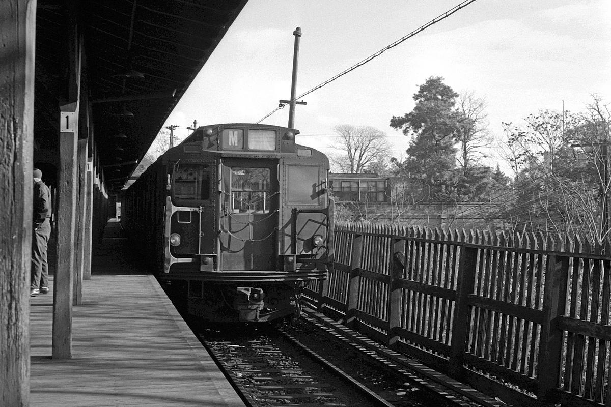 (438k, 1200x800)<br><b>Country:</b> United States<br><b>City:</b> New York<br><b>System:</b> New York City Transit<br><b>Line:</b> BMT Myrtle Avenue Line<br><b>Location:</b> Metropolitan Avenue<br><b>Route:</b> M<br><b>Car:</b> R-1/R-9 Series  <br><b>Collection of:</b> David Pirmann<br><b>Date:</b> 10/4/1969<br><b>Viewed (this week/total):</b> 4 / 306