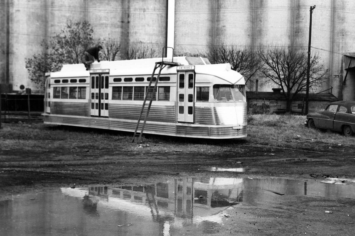 (353k, 1200x800)<br><b>Country:</b> United States<br><b>City:</b> Fort Worth, TX<br><b>System:</b> Tandy Subway<br><b>Collection of:</b> David Pirmann<br><b>Date:</b> 1/5/1963<br><b>Notes:</b> Leonards Subway PCC cars - prior to opening<br><b>Viewed (this week/total):</b> 0 / 50