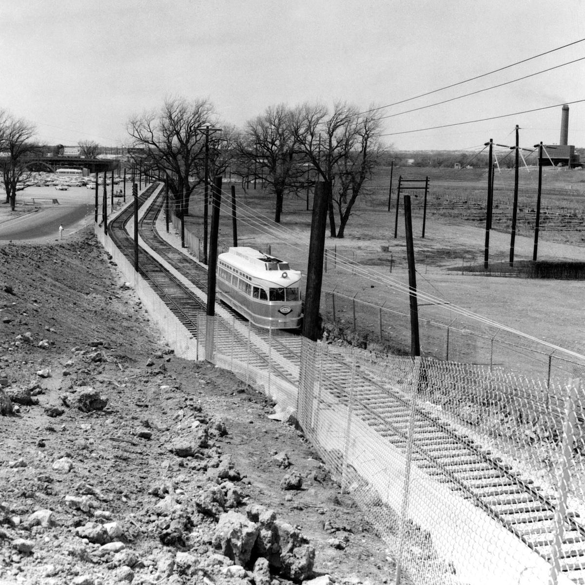 (652k, 1200x1200)<br><b>Country:</b> United States<br><b>City:</b> Fort Worth, TX<br><b>System:</b> Tandy Subway<br><b>Collection of:</b> David Pirmann<br><b>Date:</b> 4/1963<br><b>Notes:</b> Leonards Subway PCC cars<br><b>Viewed (this week/total):</b> 4 / 44