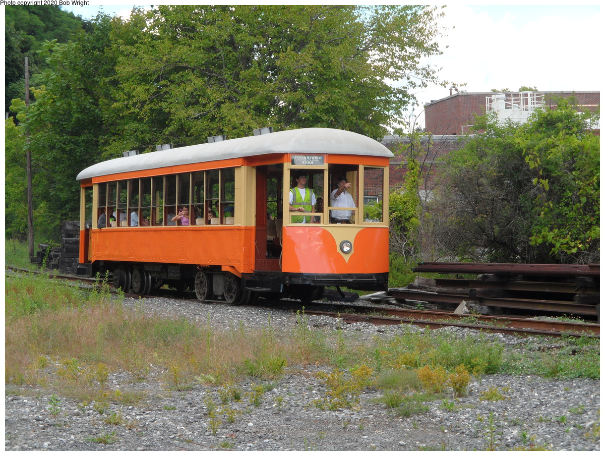 (668k, 1220x920)<br><b>Country:</b> United States<br><b>City:</b> Kingston, NY<br><b>System:</b> Trolley Museum of New York<br><b>Car:</b> Johnstown Traction 358 <br><b>Photo by:</b> Bob Wright<br><b>Date:</b> 8/17/2014<br><b>Viewed (this week/total):</b> 3 / 15