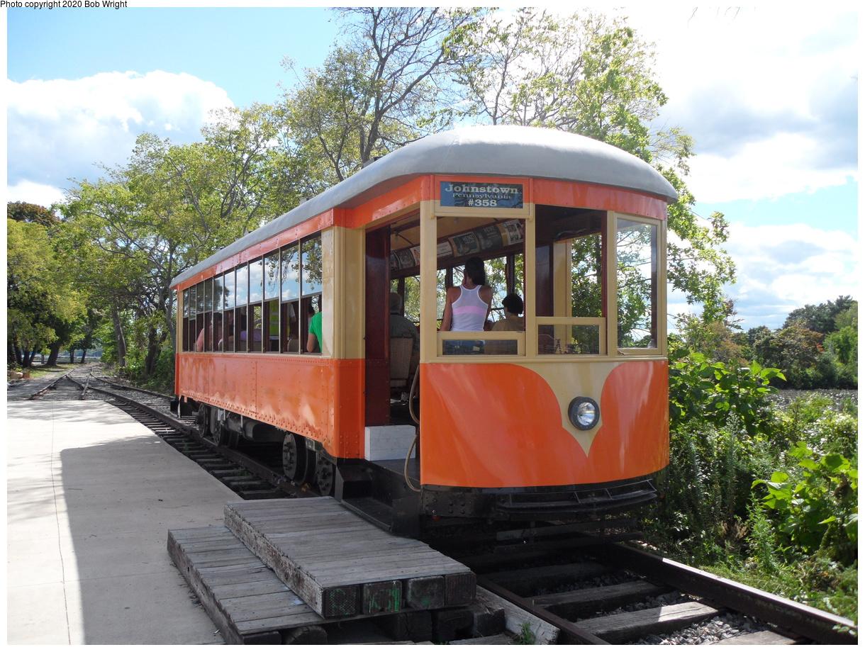 (543k, 1220x920)<br><b>Country:</b> United States<br><b>City:</b> Kingston, NY<br><b>System:</b> Trolley Museum of New York<br><b>Car:</b> Johnstown Traction 358 <br><b>Photo by:</b> Bob Wright<br><b>Date:</b> 8/17/2014<br><b>Viewed (this week/total):</b> 4 / 25