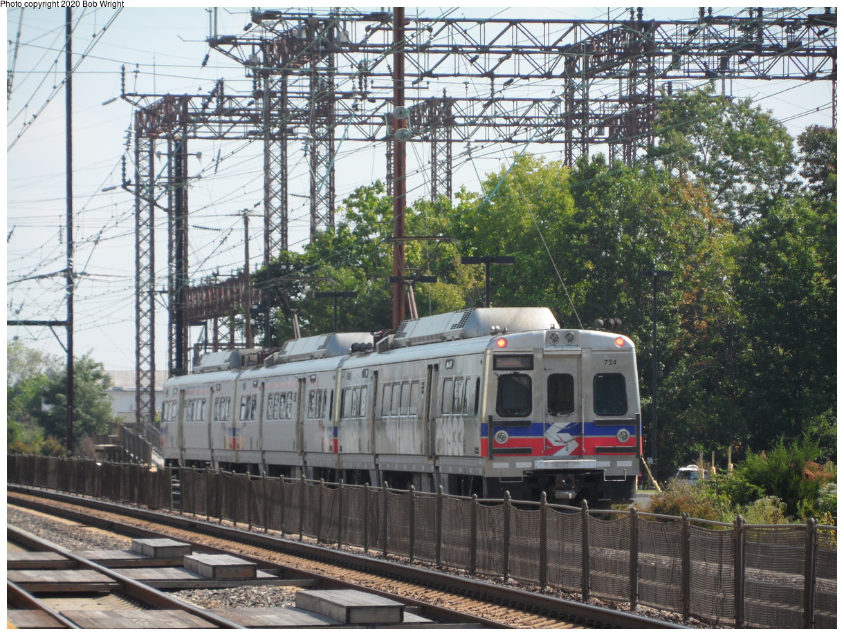 (595k, 1220x920)<br><b>Country:</b> United States<br><b>City:</b> Philadelphia, PA<br><b>System:</b> SEPTA Regional Rail<br><b>Car:</b> SEPTA Silverliner V 734 <br><b>Photo by:</b> Bob Wright<br><b>Date:</b> 9/6/2014<br><b>Viewed (this week/total):</b> 3 / 29