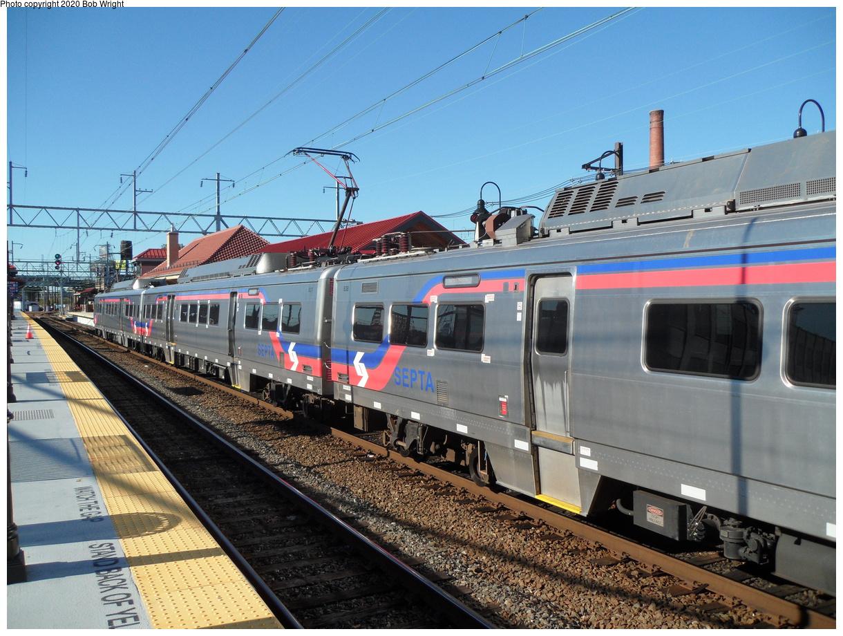 (502k, 1220x920)<br><b>Country:</b> United States<br><b>City:</b> Philadelphia, PA<br><b>System:</b> SEPTA Regional Rail<br><b>Line:</b> SEPTA Regional Rail-Center City<br><b>Location:</b> Wayne Jct.<br><b>Car:</b> SEPTA Silverliner V 838 <br><b>Photo by:</b> Bob Wright<br><b>Date:</b> 10/17/2015<br><b>Viewed (this week/total):</b> 5 / 27